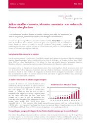 Indices durables - Sustainable Finance Geneva