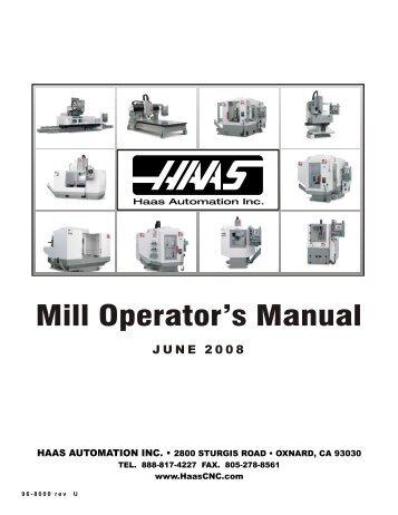 Haas cnc Lathe operators manual