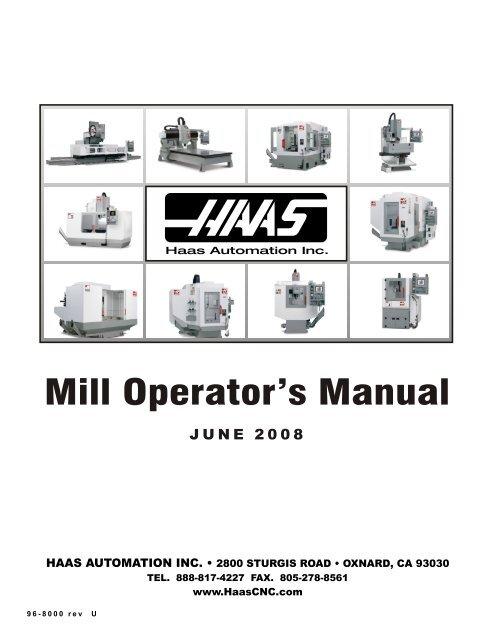 Haas Operator's manual