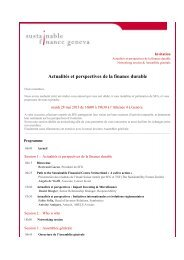 Une invitation - Sustainable Finance Geneva