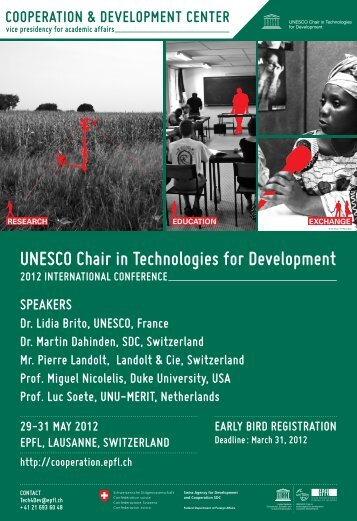 UNESCO Chair in Technologies for Development - Sustainable ...