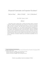 Financial Constraints on Corporate Goodness - Sustainable Finance ...