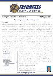 Encompass Newsletter Vol. 8 -  Encompass Global Logistics