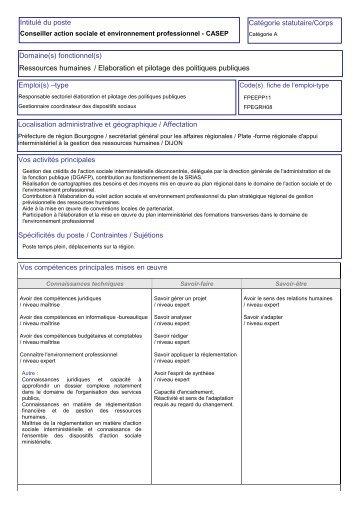 intitule du poste 1 fiche descriptive d emploi localisation cng