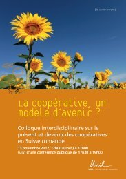 La coopérative, un modèle d'avenir ? - Sustainable Finance Geneva