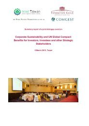 Summary report - Sustainable Finance Geneva
