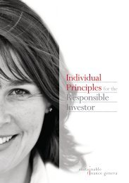 Individual Principles for the Responsible Investor - Sustainable ...