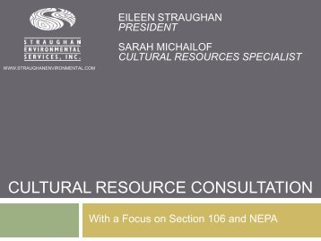 cultural resource consultation - National Mining Association
