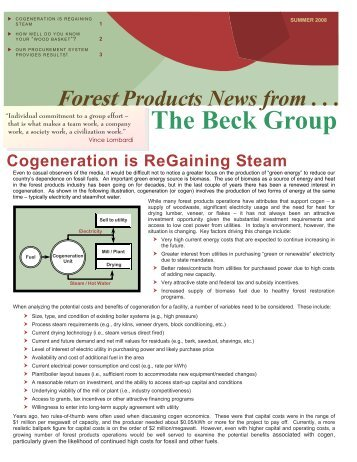 Summer 2008 - The Beck Group