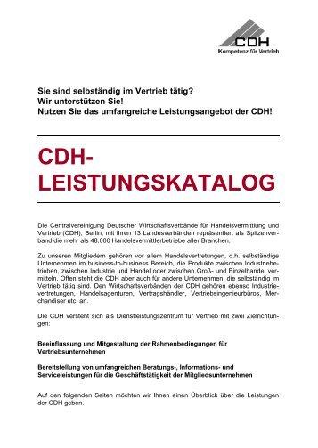 Unsere Leistungen auf einen Klick (bitte herunterladen) - CDH