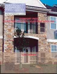 CPE R-22 (Archive) - National Comfort Products