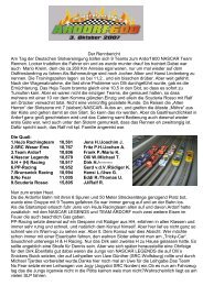 Der Rennbericht Am Tag der Deutschen ... - SRC-Ostfriesland