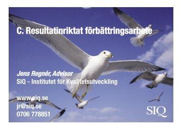 Jens Regner - Institutet för Kvalitetsutveckling, SIQ