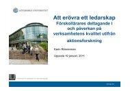 Karin Rönnerman.pdf - Institutet för Kvalitetsutveckling, SIQ