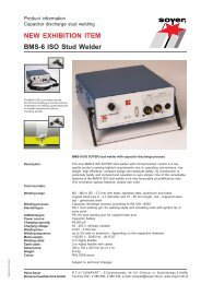 BMS-6 ISO Stud Welder NEW EXHIBITION ITEM - Soyer