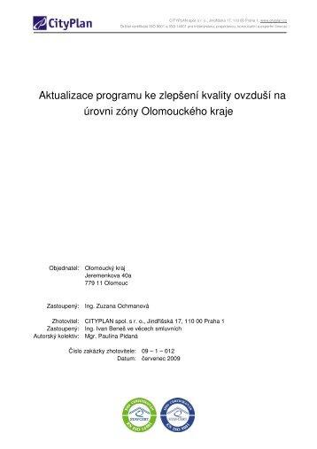 Aktualizace PZKO - Olomoucký kraj - rok 2009