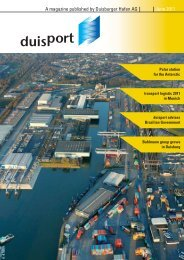 A magazine published by Duisburger Hafen AG June 2011 - Duisport