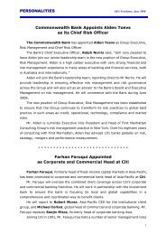 PERSONALITIES Commonwealth Bank Appoints Alden Toevs as its ...
