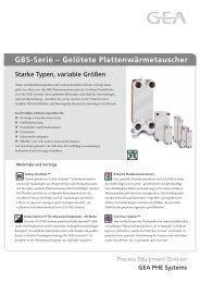 GBS-Serie – Gelötete Plattenwärmetauscher - GEA PHE Systems