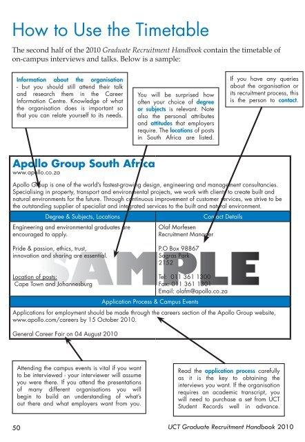 Job fair presentation sample
