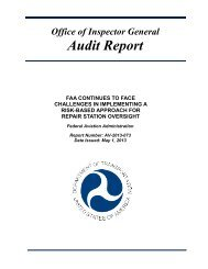 FAA Repair Station Oversight^5-1-13.pdf - Office of Inspector ...