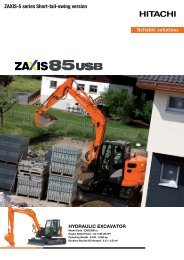 pdf brochure - Hitachi Construction Machinery Europe