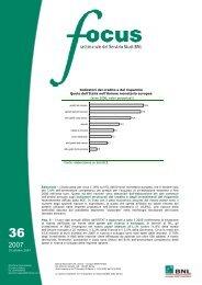 Indicatori del credito e del risparmio Quote dell'Italia ... - BNP Paribas