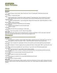 AYURVEDA Home Remedies Clove Cinnamon