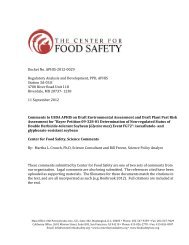 a four-fold rise - Center for Food Safety