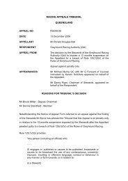 Racing Appeals Decision - Ronald Ball.pdf - Greyhounds Queensland