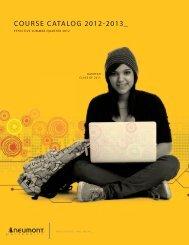 course catalog 2012-2013 - Neumont University