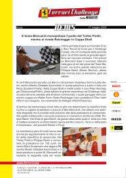 A Imola Blancardi monopolizza il podio del Trofeo Pirelli, mentre si ...