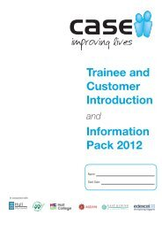 Trainee and Customer Introduction Information Pack 2012