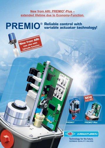 PREMIO® Reliable control with variable actuator ... - ARI Armaturen