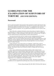guidelines for the examination of survivors of - Freedom from Torture