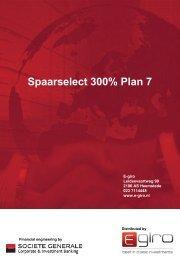 Spaarselect 300% Plan 7 - The Index People BV