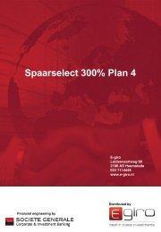 Spaarselect 300% Plan 4 - Index People