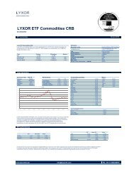 LYXOR ETF Commodities CRB - The Index People BV