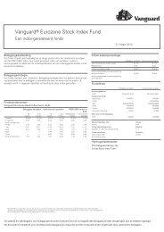 Vanguard® Eurozone Stock Index Fund - The Index People BV