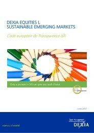 dexia equities ls ustainable emerging markets - Dexia Asset ...