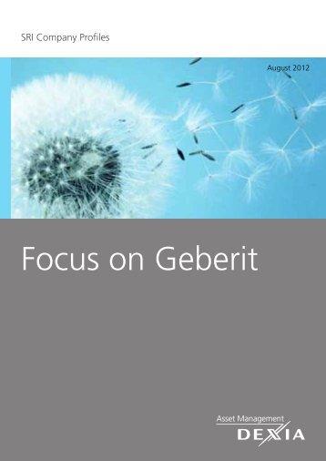 Focus on Geberit - Dexia Asset Management