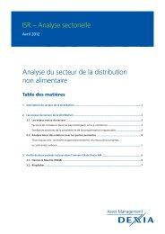 US Census Bureau, 2011 - Dexia Asset Management