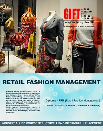 rfm prospectus asit - GIFT (Global Institute of Fashion Technology)