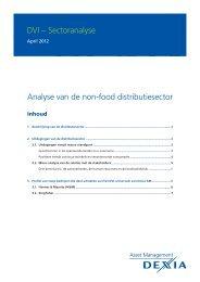 DVI – Sectoranalyse Analyse van de non-food distributiesector