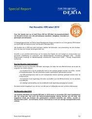 Het Novethic ISR-label 2010 - Dexia Asset Management