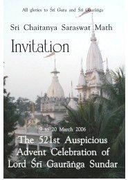 PDF format, 850 K. - Sri Chaitanya Saraswat Math