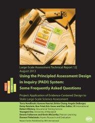 FAQs Designing ECD Assessments in PADI FINAL - Evidence ...
