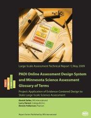 PADI Online Assessment Design System and ... - SRI International