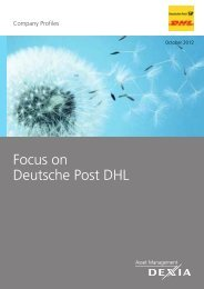 Focus on Deutsche Post DHL - Dexia Asset Management