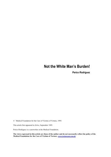 Not the White Man's Burden! - Freedom from Torture